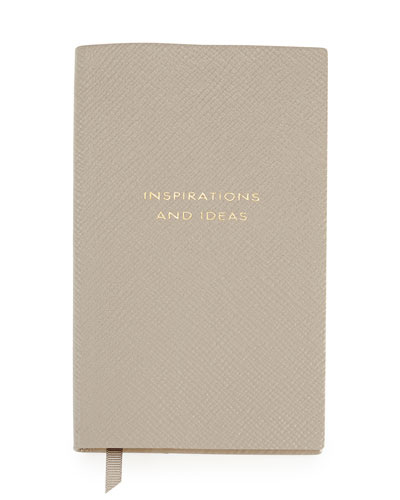 """Inspirations and Ideas"" Panama Notebook, Gray"