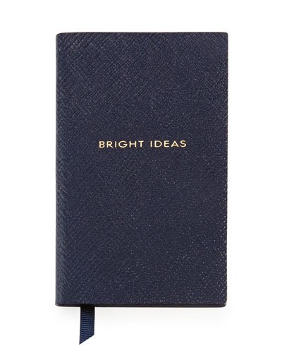 """Bright Ideas"" Wafer Notebook, Navy"