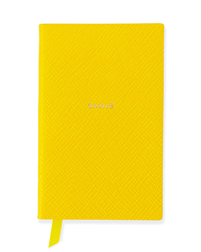"""Smile"" Wafer Notebook, Yellow"