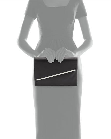 Kensington Asymmetric Envelope Clutch Bag, Black