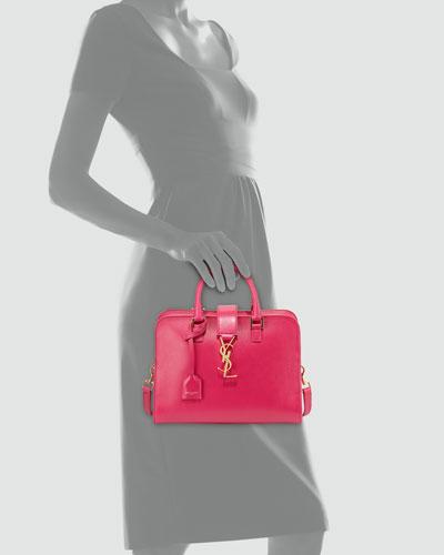 ysl handbags outlet - monogram small zip-around satchel bag, gray