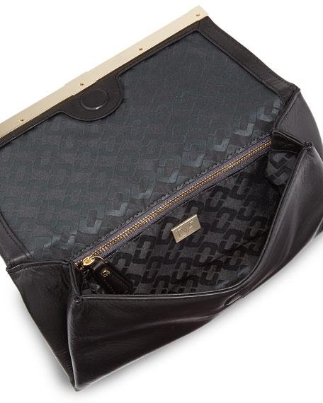 Diane von Furstenberg 440 Envelope Flap Clutch Bag, Gold/Black