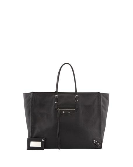 Papier A5 Zip Tote Bag, Black