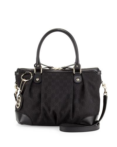 Gucci Sukey GG Original Canvas Top-Handle Bag, Black