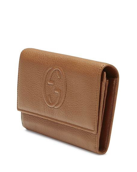 987166c6cbe Gucci Soho Continental Leather Wallet
