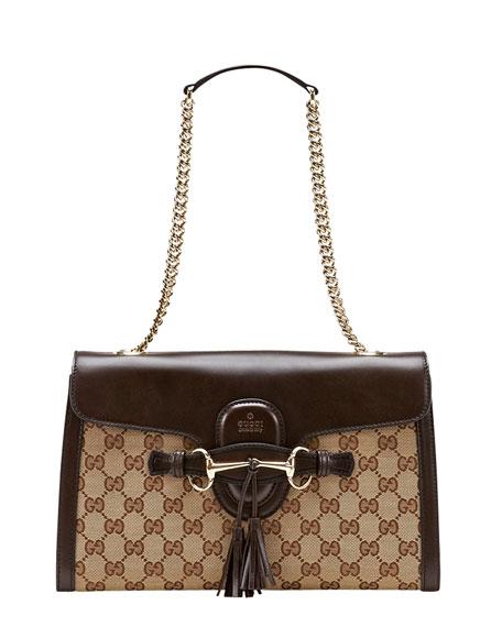 Emily Small GG Canvas Shoulder Bag