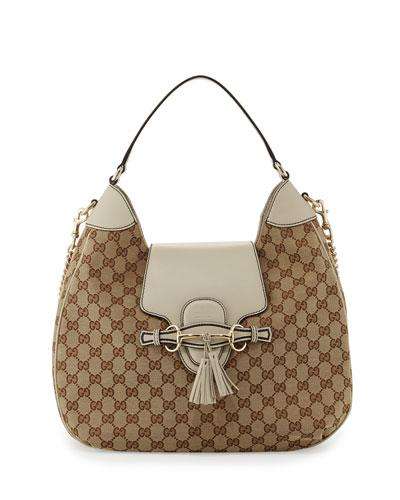 Gucci Emily Original GG Canvas Hobo Bag