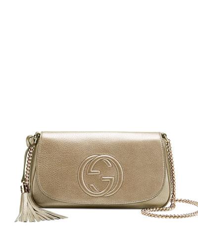 Soho Metallic Chain Shoulder Bag