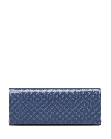 Broadway Guccissima Evening Clutch Bag, Uniform Blue Navy