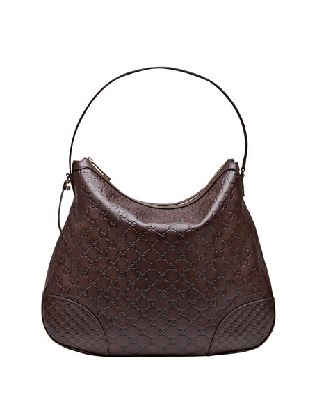 Bree Guccissima Leather Hobo Bag, Chocolate
