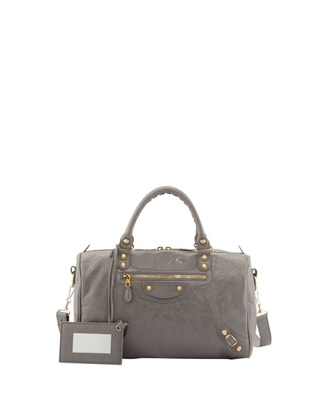 Giant 12 Golden Boston Crossbody Bag, Gris Pyrite
