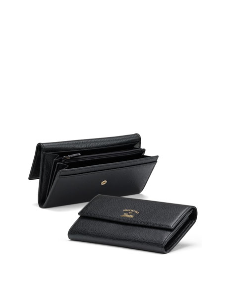 Gucci Swing Leather Continental Wallet, Nero