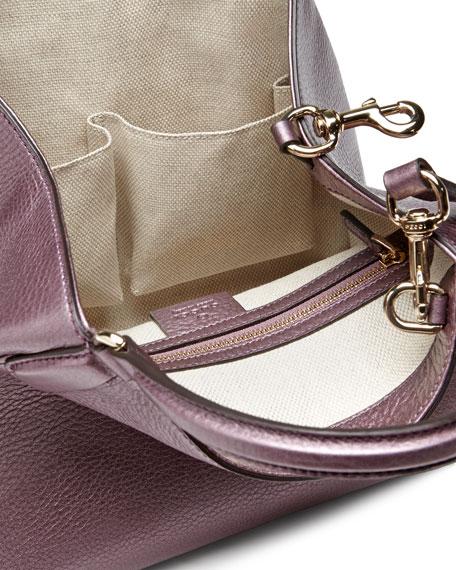 Gucci Soho Leather Shoulder Bag, Metallic Purple