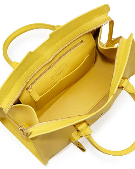 Classic Cabas Y-Ligne Leather Carryall Bag, Soleil