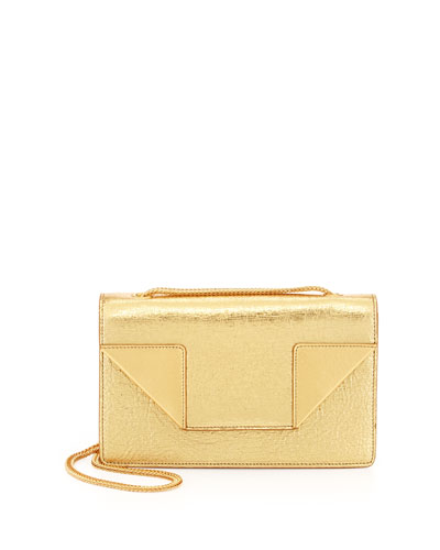 Betty Mini Chain Shoulder Bag, Oro