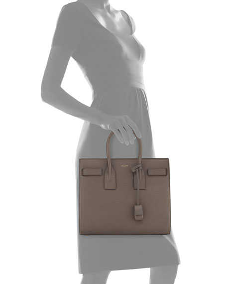 26fdd78637 Sac de Jour Small Grained Leather Tote Bag Earth Gray