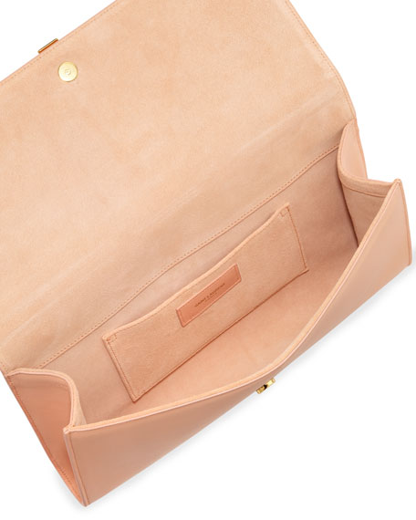 Y Ligne Clutch Bag, Blush