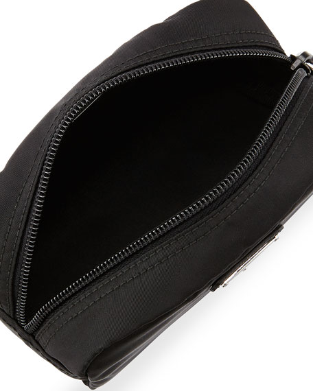 Prada Nylon Small Rectangle Cosmetics Case, Black (Nero)