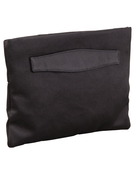 Raso Satin Clutch Bag, (Black) Nero