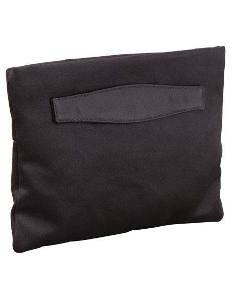 df09aa116250 ... canada prada raso satin clutch bag black nero neiman marcus af3d9 0f8a8