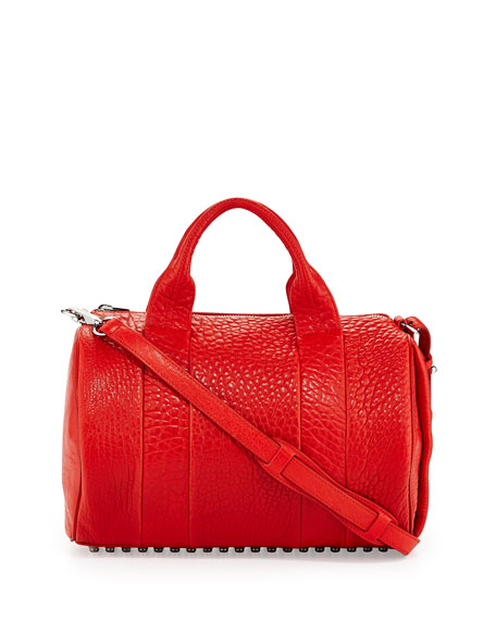 Rocco Stud-Bottom Duffel Bag, Cola Red