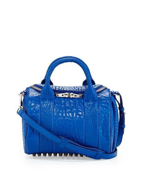 Rockie Small Crossbody Satchel, Royal Blue
