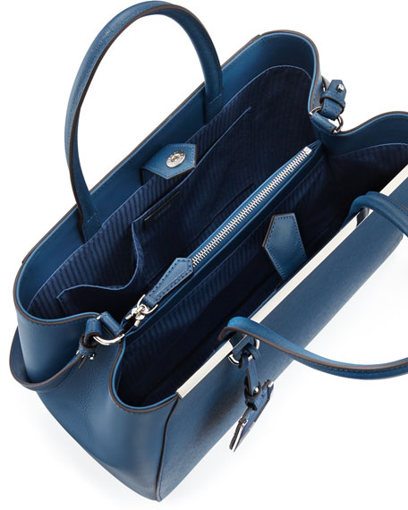 2Jours Leather Satchel Bag, Blue