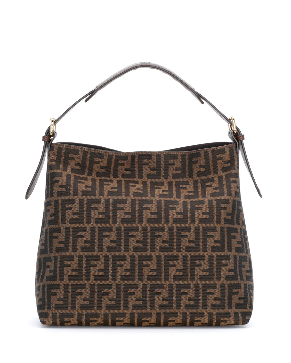 c2c1cf0a5ee0 Fendi Zucca-Print Canvas Small Hobo Bag