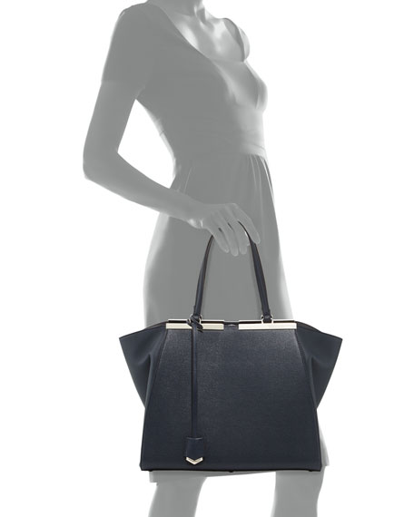 7f6399dec9b Fendi Trois-Jours Winged Tote Bag, Black