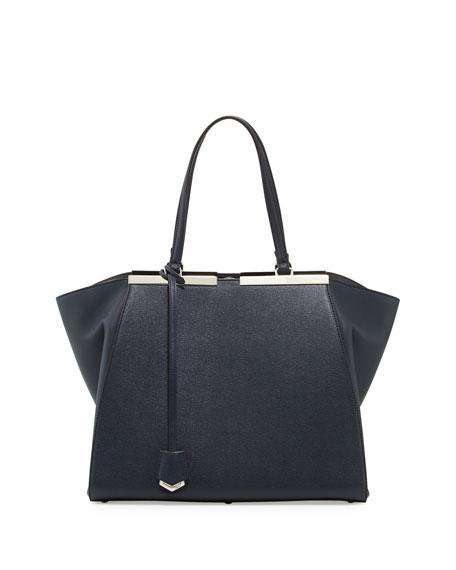 80b39466c67 Fendi Trois-Jours Winged Tote Bag, Black