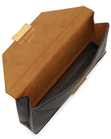 Beckett Faux-Napa Clutch Bag, Black