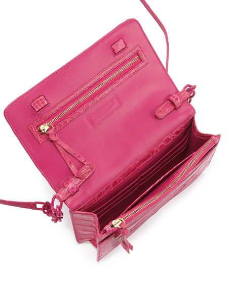 Crocodile Wallet on a Chain, Pink