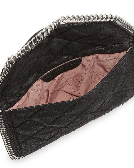 Falabella Mini Crossbody Quilt Bag, Black
