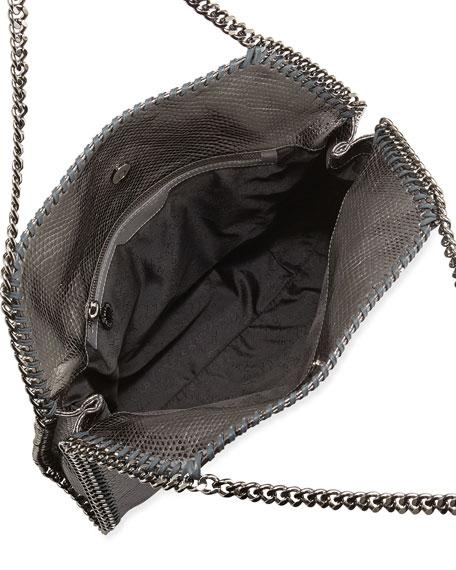 Falabella Small Python-Print Tote Bag, Pewter