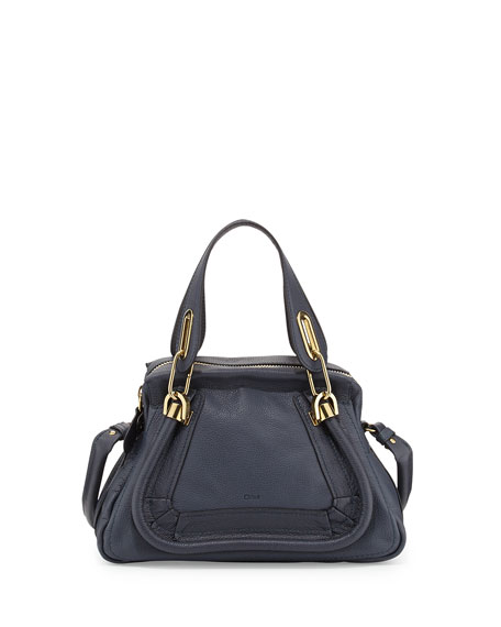 Chloe Paraty Small Satchel Bag, Navy