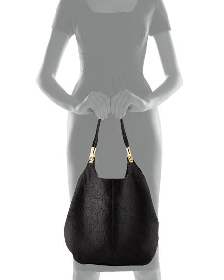 Cynnie Leather Shopper Bag, Black