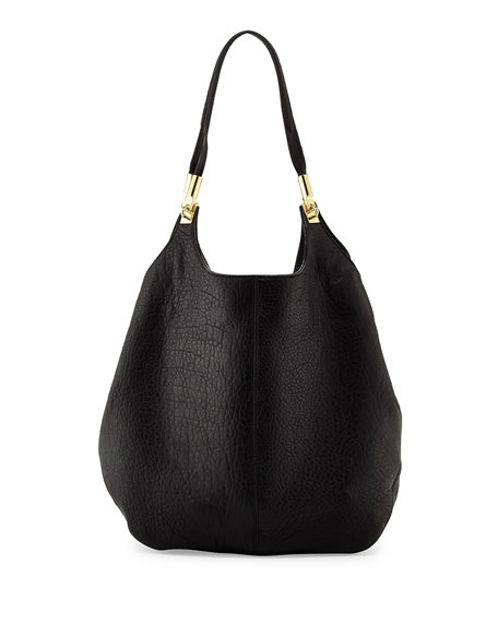 Cynnie Leather Shopper Bag, Black