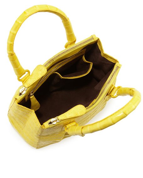 Nancy Gonzalez Mini Open-Top Crocodile Tote Bag, Yellow