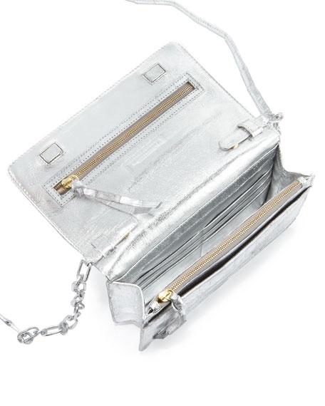 Crocodile Wallet on a Chain, Silver