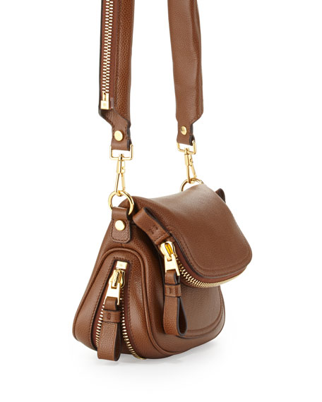 Jennifer Small Shoulder Bag, Caramel