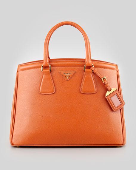 Saffiano Parabole Medium Tote Bag, Orange