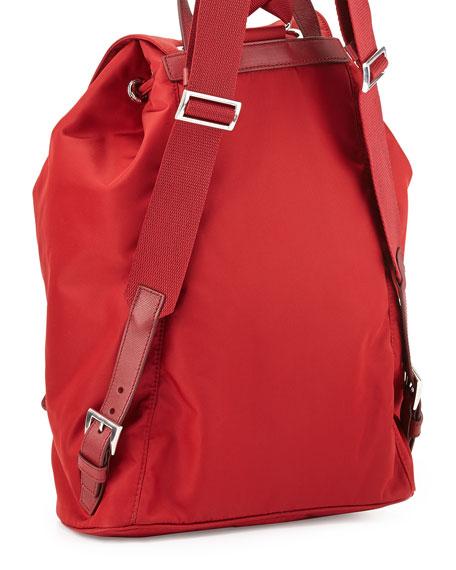 Vela Large Drawstring Backpack, Red (Fuoco)