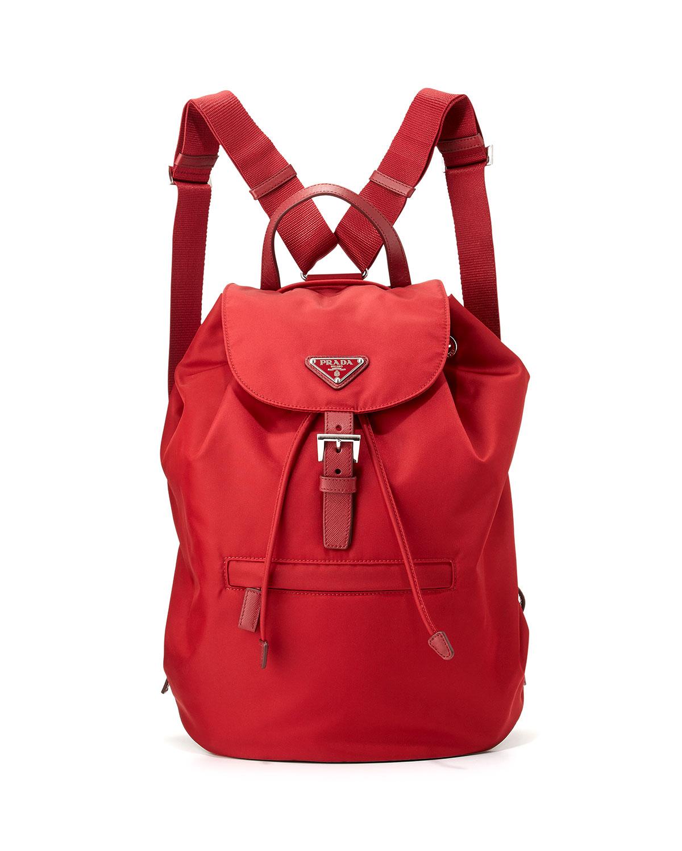 4b8b45f1e923 Prada Vela Large Drawstring Backpack