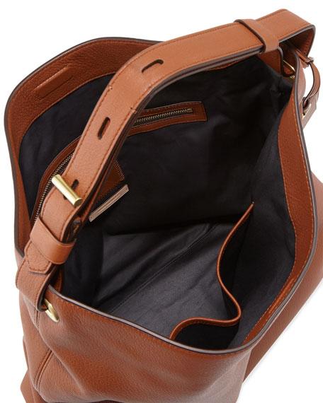 RDK Deerskin Hobo Bag, Saddle