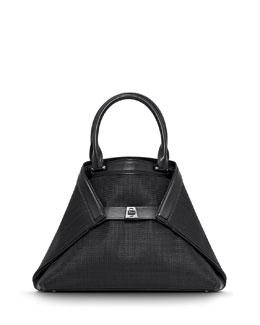 Akris Ai Small Horsehair Tote Bag, Black