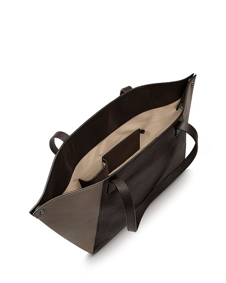 Ai Small Shoulder Tote Bag, Brown Multi