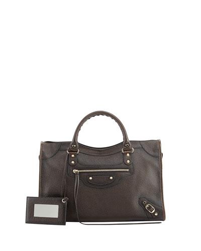 Balenciaga Classic City Bag, Distressed Brown