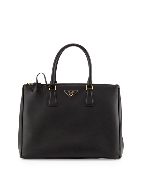 Prada Saffiano Medium Executive Tote Bag, Nero (Black)