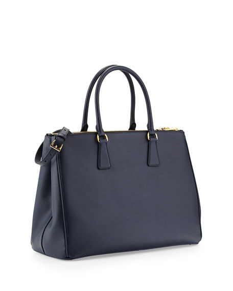 replica prada bags uk - Prada Saffiano Medium Executive Tote Bag, Dark Navy (Baltico)