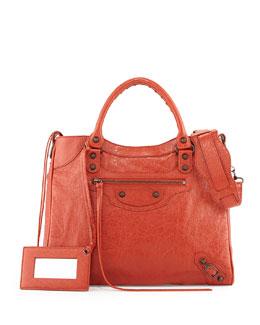 Balenciaga Classic Velo Crossbody Bag, Rouge Ambre